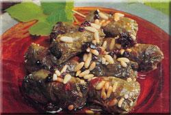 Tyrkiske vinbladsruller med ris