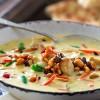 Hurtig suppe med kylling og rosin salsa