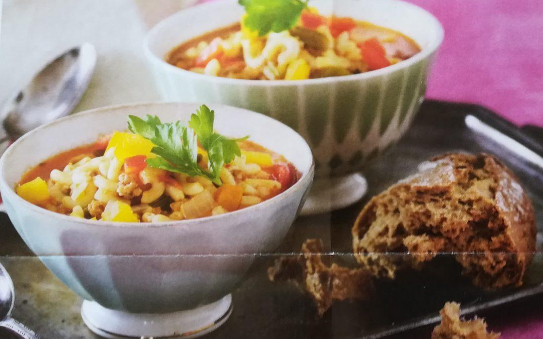 Krydret kyllinge suppe